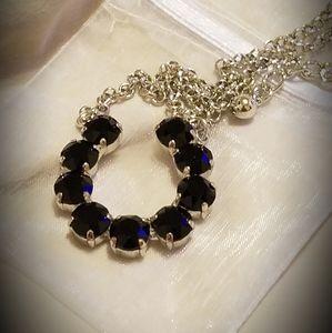 Swarovski Crystal Horseshoe Necklace